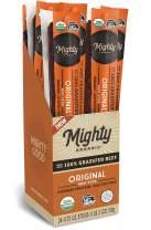 100% Grass Fed Meat Sticks, Keto Snacks, Original, Mighty Organic, 0.75oz (Pack of 24)
