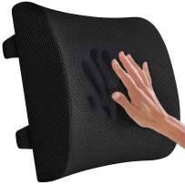 VECELO Memory Foam Cushion-Ergonomically Designed to Reduce Back Pain-Lumbar Support Pillow for Office/Computer Chair/Car with 2 Adjustable Straps