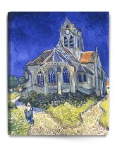 DECORARTS - The Church at Auvers, by Vincent Van Gogh. The Classic Arts Reproduction. Art Giclee Print On Canvas, Stretched Canvas Gallery Wrapped. 24x30