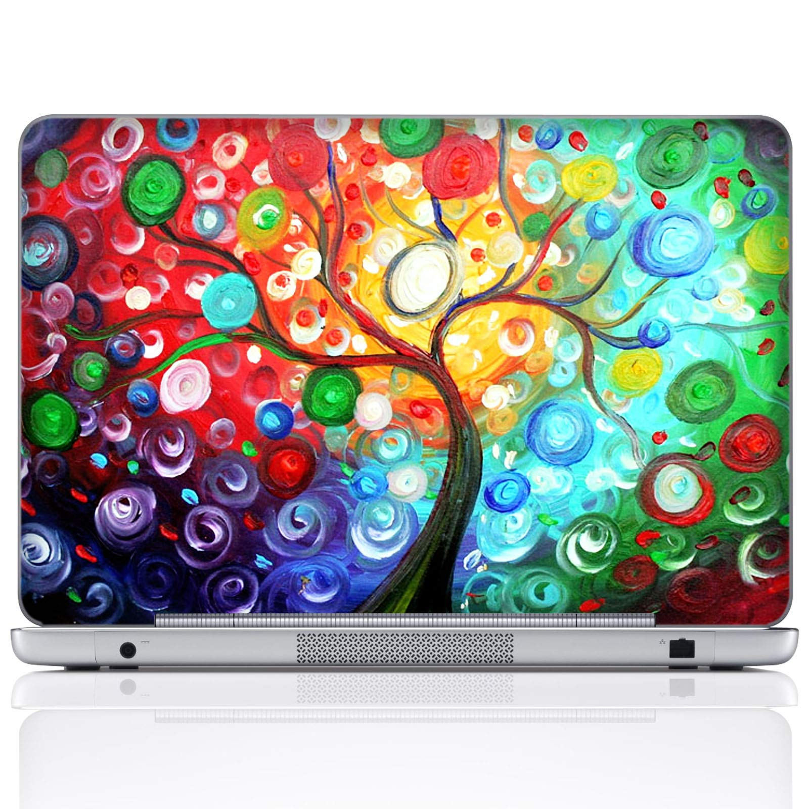 Meffort Inc 15 15.6 Inch Laptop Notebook Skin Sticker Cover Art Decal (Included 2 Wrist pad) - Colorful Tree