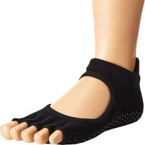 Toesox Women's Bellarina Half Toe Grip Non-Slip for Ballet, Yoga, Pilates, Barre Toe Socks