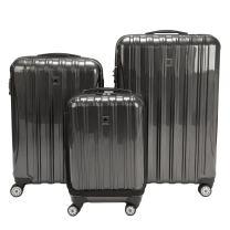 DELSEY Paris Helium Aero Hardside Expandable Luggage with Spinner Wheels, Brushed Charcoal, 3-Piece Set (19/25/29)
