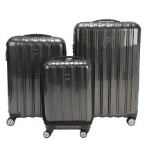 DELSEY Paris Helium Aero Hardside Expandable Luggage with Spinner Wheels, Brushed Charcoal, 3-Piece Set (19/25/29)