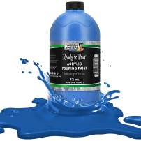 Pouring Masters Midnight Blue Acrylic Ready to Pour Pouring Paint – Premium 32-Ounce Pre-Mixed Water-Based - for Canvas, Wood, Paper, Crafts, Tile, Rocks and More