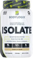 Bodylogix Natural Whey Isolate Protein Powder, NSF Certified for Sport, Vanilla Bean, 2 Pound