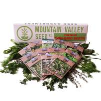 Culinary Herb Seeds Garden Collection   Deluxe Assortment   12 Non-GMO Seed Packets: Basil, Dill, Oregano, Mustard, Cilantro, Sage, Rosemary, Thyme, Arugula, More
