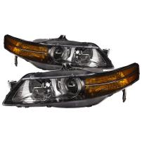 HEADLIGHTSDEPOT Headlight HID Set Black Housing With Performance Lens Left Driver Right Passenger Pair Compatible with 2004-2005 Acura Tl Sedan