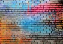AIIKES 8x6FT Colorful Brick Wall Photo Backdrop 80's Hip Hop Disco Baby Birthday Wedding Graduation Themed Party Photography Background Fashion Decor Studio Photo Booth 11-502