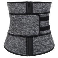 FeelinGirl Women Hot Sweat Neoprene Workout Waist Trainer Corset Trimmer Belt Zipper Slimming Weight Loss Body Shaper