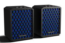 Tech-Life Twins- Mountable Stereo Travel Bluetooth Speakers. 2-Pack. 100% Wireless, 20 watts, 14hr Battery, Splashproof, w/Speakerphone -