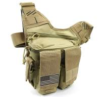 K-Cliffs Rapid Deployment Pack Tactical Shooting Range Bag, Velcro Ammo Clip Pockets & Free Soft Pistol Pouch