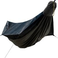 "Go Camping Hammock 2.0 w/ Built-In Mosquito Net -  Slate Gray by Go Outfitters: 11' Long X 64"" Wide 