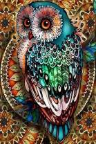 Owl on Tree Diamond Painting for Adults by LUHSICE, 60x90cm