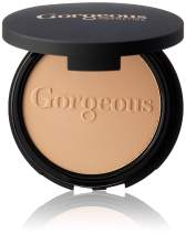 Gorgeous Cosmetics Powder Perfect, Pressed Powder Foundation, Compact with Mirror, Highly Pigmented and Buildable for Medium Coverage