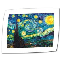 ArtWall Starry Night by Vincent Van Gogh Rolled Canvas Art, 36 by 48-Inch