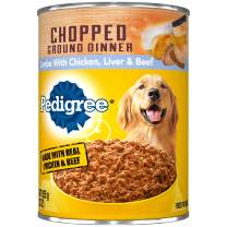 Pedigree Chopped Ground Dinner Wet Dog Food, 22 oz. Cans (Pack of 12)