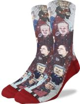 Good Luck Sock Men's Canadian Prime Ministers Crew Socks - Red, Adult Shoe Size 8-13