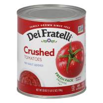 Dei Fratelli Crushed Tomatoes - All Natural - No Water Added - Never from Tomato Paste - 5th Generation Recipe (28 oz. cans; 6 pack)