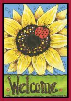 "Toland Home Garden 119583 Sunflower Lady 12.5 x 18 Inch Decorative, Garden Flag-12.5"" x 18"""