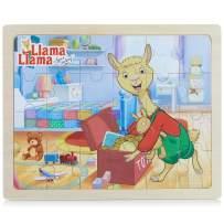 Llama Llama - 24 Piece Wooden Jigsaw Puzzle for Preschool Kids & Toddlers - Toys