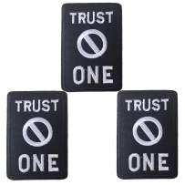 U-Sky Iron on Patches for Clothes, 3pcs Trust No One Word Letter Iron-on Patch, Sew-on Appliques for Jackets/Clothing/Jeans/Backpacks to Cover Rip/Logo/Dirt, Size: 2.87x2 inch