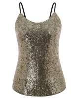 Hanna Nikole Women's Plus Size Sequin Tops Glitter Shimmer Sleeveless Cami Tank