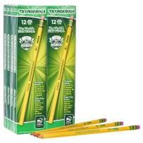 TICONDEROGA Pencils, Wood-Cased, Unsharpened, Graphite #2 HB Soft, Yellow, 96-Pack (13872)