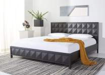 Safavieh Couture Home Collection Patty Black Oak Wood Platform No Box Spring Required King Bed SFV7208A-K-3BX