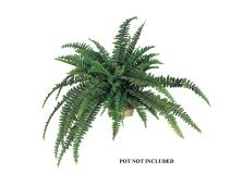 "Larksilk Boston Fern Artificial Plants - Outdoor or Indoor House Plant, Hanging Basket or Planter, 48"" Inch Diameter 48 Fronds"