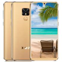 """Unlocked Cell Phones Android 9.0 5.5"""" 18:9 HD Screen Face ID 1GB 16GB Metal Frame GPS Big Battery 3G Smartphone Global Version (Gold)"""