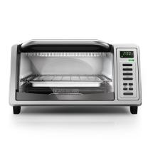 BLACK+DECKER TO1380SS 4-Slice Digital Toaster Oven, Includes Bake Pan, Broil Rack & Toasting Rack, Stainless Steel Digital Toaster Oven