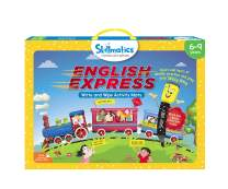 Skillmatics Educational Game: English Express (6-9 Years) | Erasable and Reusable Activity Mats with 2 Dry Erase Markers | Learning Tools for Boys and Girls 6, 7, 8, 9 Years