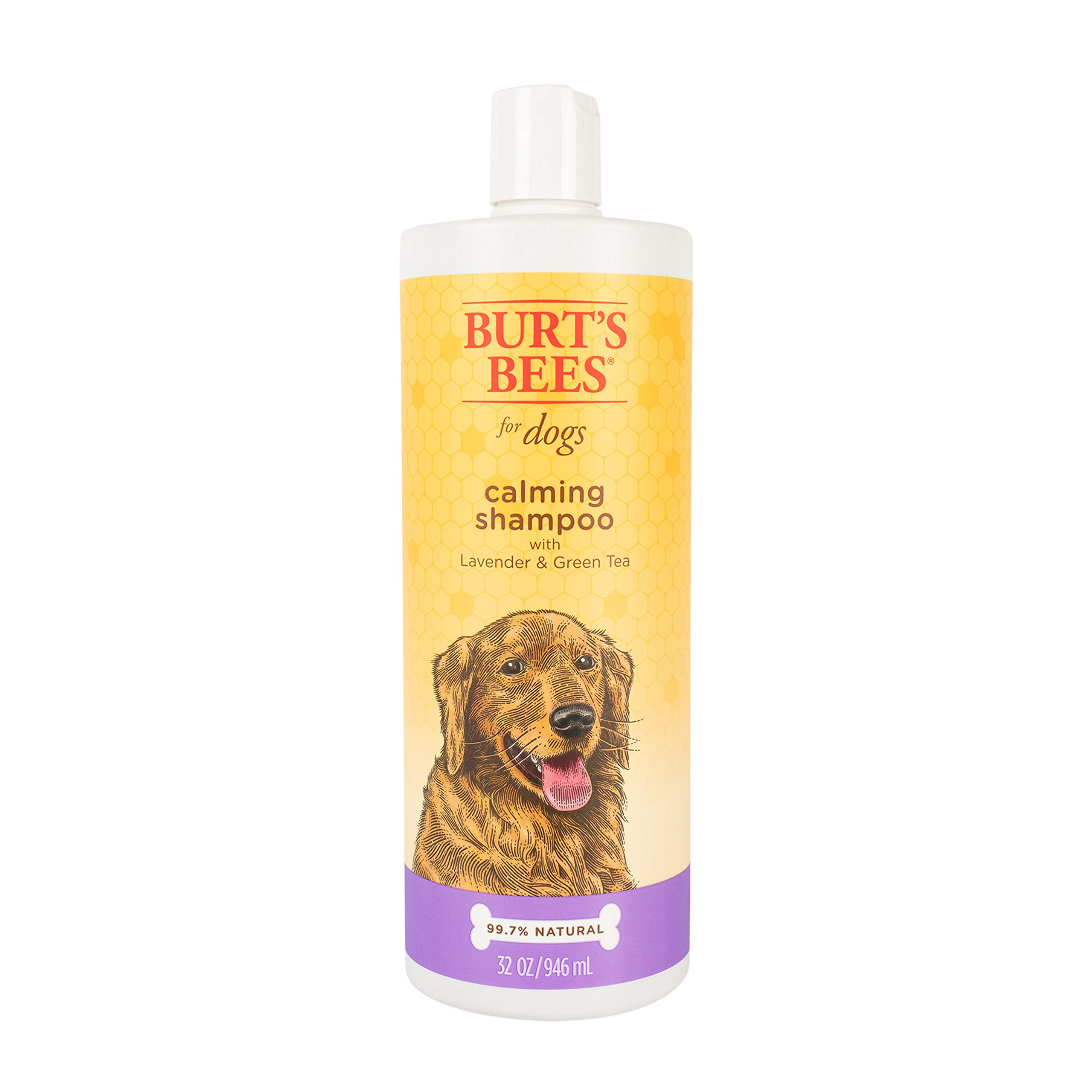 Burt's Bees All Natural Calming Shampoo for Dogs   Soothes, Calms & Revitalizes   Made with Lavender and Green Tea, 32 Ounces