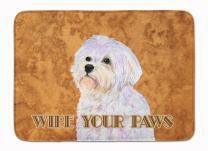 Caroline's Treasures SS4898RUG Puppy Cut Maltese Wipe Your Paws Machine Washable Memory Foam Mat, 19 X 27, Multicolor