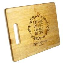 Personalized Cutting Board for Wedding, Housewarming, Couples Gifts | Multiple Sizes | Kitchen Serving Board, Custom Engraved for Engagement, Christmas, Anniversary, Real State Closing Gifts