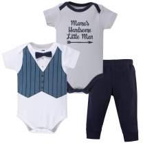 Hudson Baby Unisex Cotton Bodysuit and Pant Set
