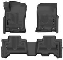 Husky Liners 99571 Black Weatherbeater Front & 2nd Seat Floor Liners Fits 2014-2019 Lexus GX460, 2013-2019 Toyota 4Runner