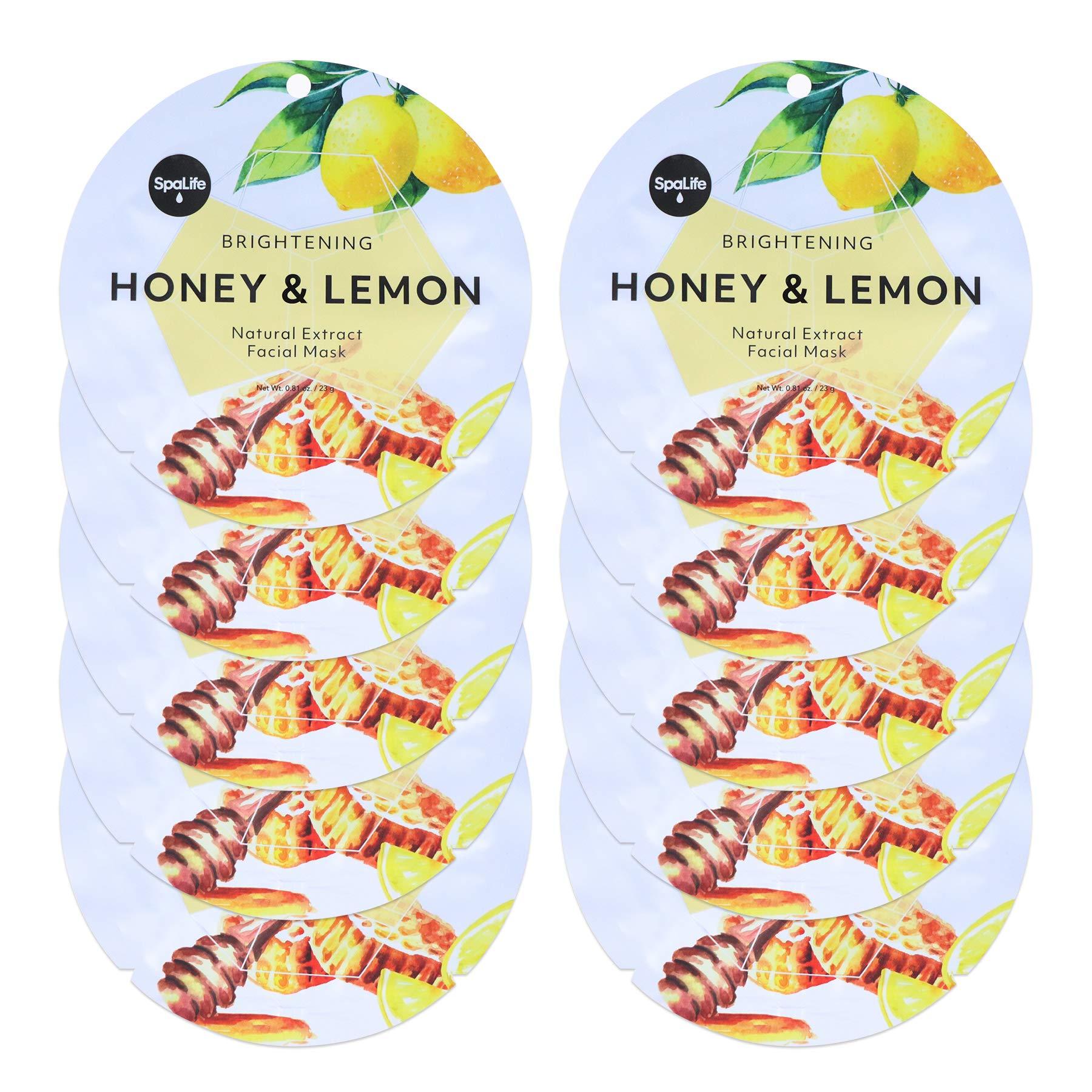 Spa Life Circle Honey and Lemon Brightening Natural Extract Facial Mask 10 pack