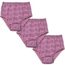 Valair Women's Full Cut Soft Cotton Brief Panty - Pack of 3