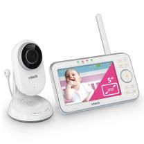 VTech VM5271 Video Baby Monitor with 5-inch Screen, Motorized Lens with 6X Optical Zoom, Soothing Sounds & Lullabies, Temperature Sensor & 1,000 feet of Range