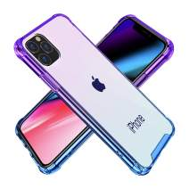 BAISRKE iPhone 11 Pro Max Case, Slim Shock Absorption Protective Cases Soft TPU Bumper & Hard Plastic Back Cover for iPhone 11 Pro Max 2019 [6.5 inch] - Blue Purple Gradient