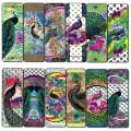 Peacock Bookmark Cards (30-Pack)-Unique Art Print Design - Awesome Bookmarks for Bookworms, Men, Women – Six Assorted Bookmarks Designs Page Book Clipping Wall Decal