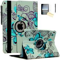 JYtrend Case for 2019 iPad 10.2 inch, for iPad 7th Generation, Rotating Stand Smart Magnetic Auto Wake Up/Sleep Cover for Model A2197 A2200 A2198 A2199 MW6X2LL/A MW712LL/A MW6Y2LL/A (Lotus Flower)