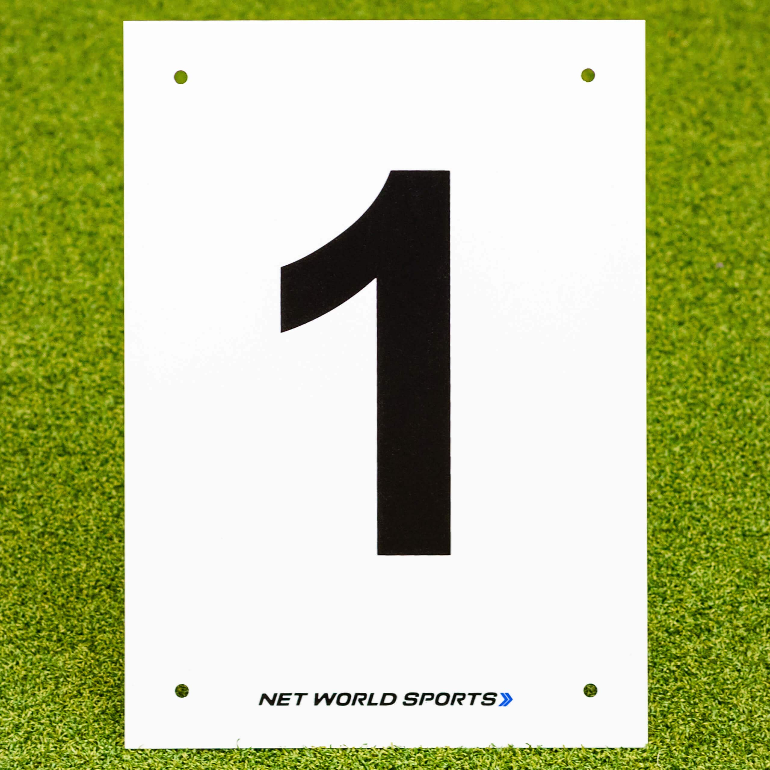Vermont A4 Number Plates for Sports Pitches & Courts [1-12]   High-Visibility Number Plates