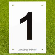 Vermont A4 Number Plates for Sports Pitches & Courts [1-12] | High-Visibility Number Plates