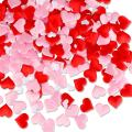 LeeSky 300Pcs Red & Pink & White Heart Confetti- Valentine's Day Party Decorations- Valentine's Day Heart Confetti Decor- Wedding Party Engagement Party Decoration Supplies
