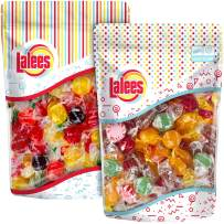Lalees SUGAR FREE Hard Candy - 2 Pack- Sugar Free Gala Mix & Sugar Free Assorted Fruit Buttons - BULK Assorted Hard Candy - Individually Wrapped