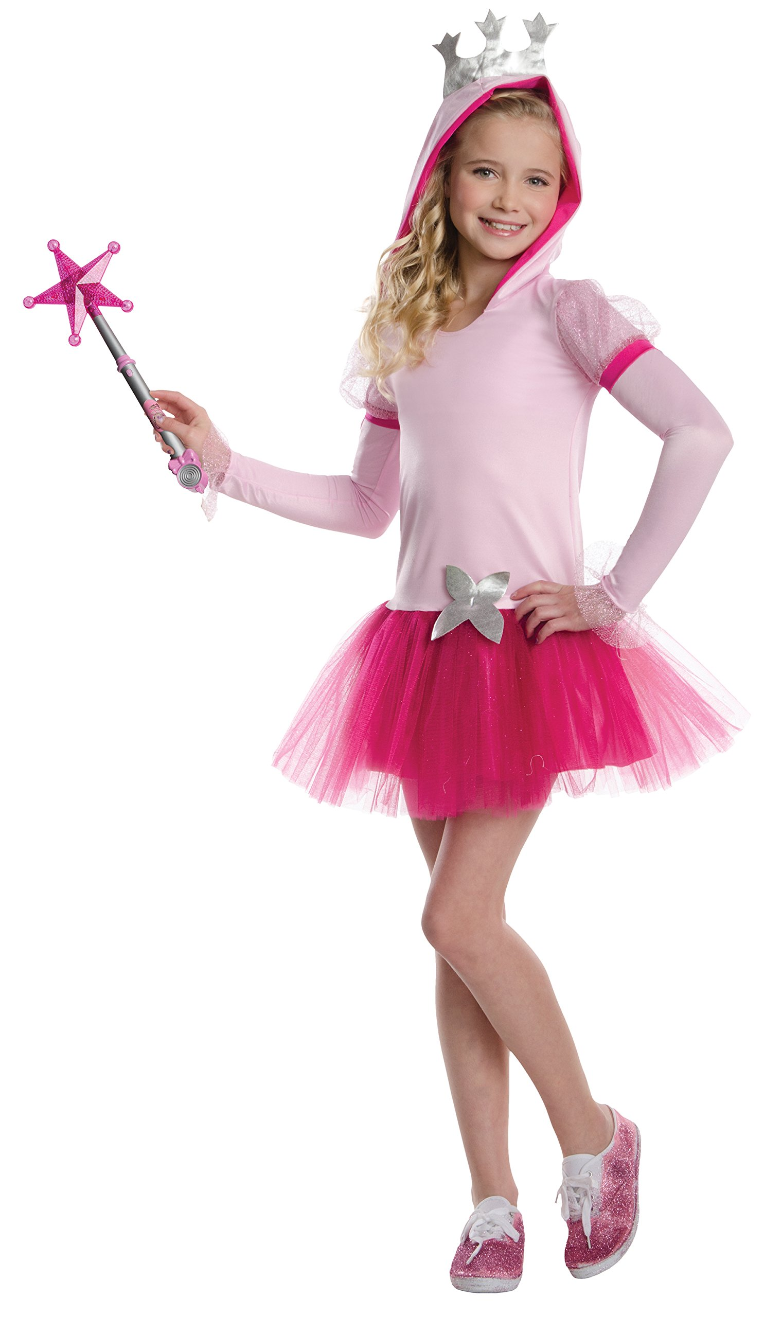Rubies Wizard of Oz Glinda The Good Witch Hoodie Dress Costume, Child Medium