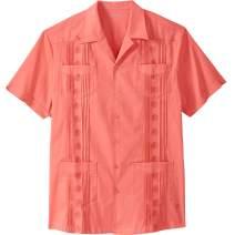 KS Island by Kingsize Men's Big & Tall Short-Sleeve Guayabera Shirt