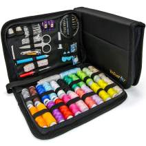 Sewing Kits for Adults – Complete Needle and Thread Kit for Sewing – Includes 24 Color Threads, 30 Needles, Scissors – Portable Travel Case Sewing Repair Kit – Ideal for Beginners, Rapid Fixes